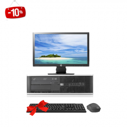 HP 6300 Pro SFF  + Ecran HP  P201 20 Pouces  (Remis à Neuf )
