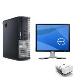 Pack Pc DELL Optiplex 790 SFF  +Ecran Dell UltraSharp 1707FPt (Remis à Neuf)