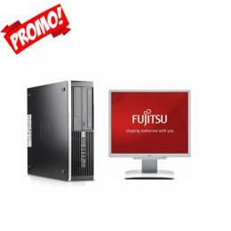 Pack Pc HP 6200 Pro DC SFF  +Ecran FUJITSU DY19-7 (Remis à Neuf )