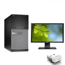 Pack Pc Dell Optiplex 3020 MT Core i5-4590 + Ecran DELL P2211HT (Remis à Neuf )