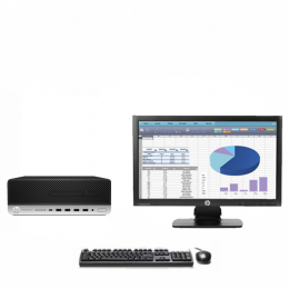 Pack Pc HP PRODESK 600 G3 SFF Core i3-6100 + Ecran HP  P202 (Remis à Neuf)